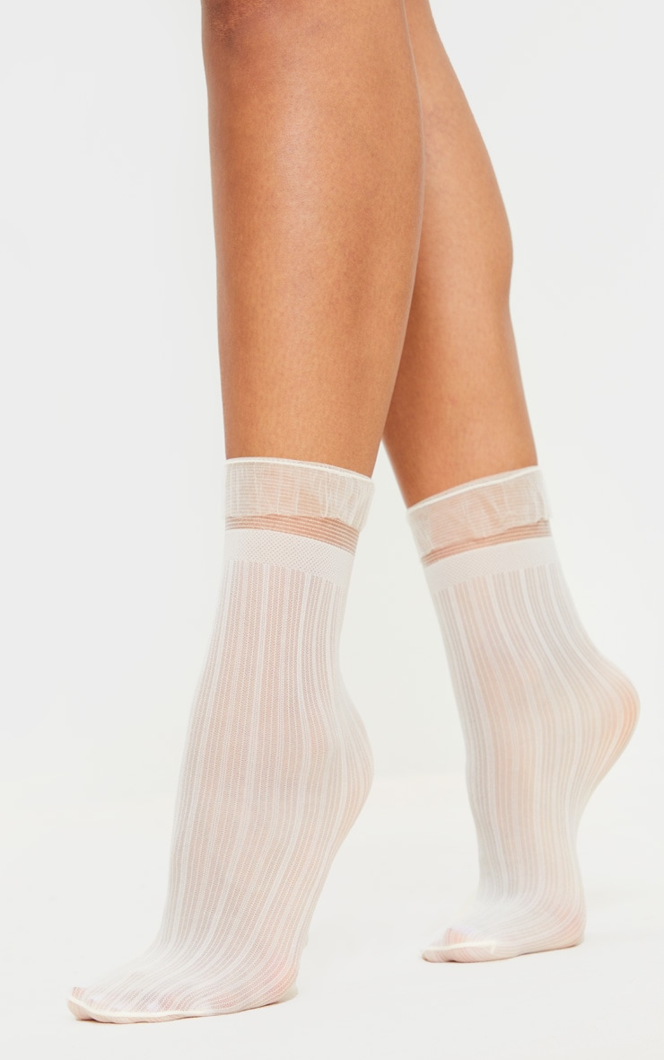 White Sheer Frill Socks 2