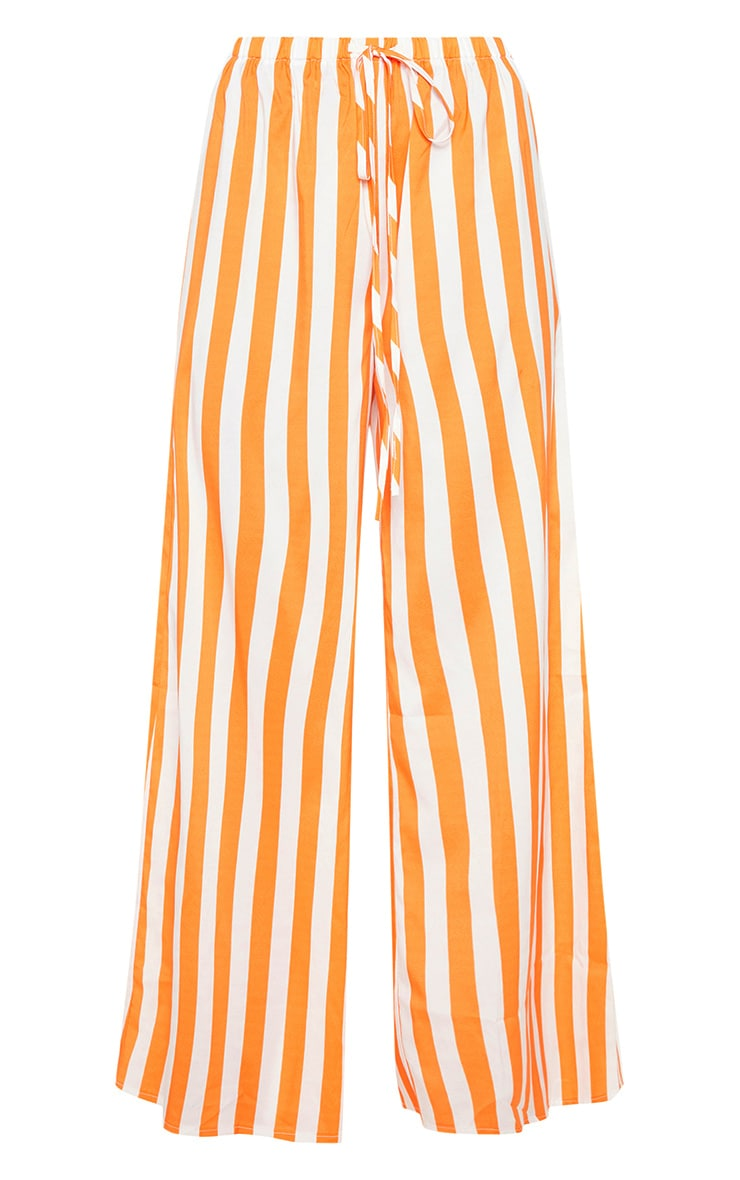 Bright Orange Stripe Wide Leg Trouser 3