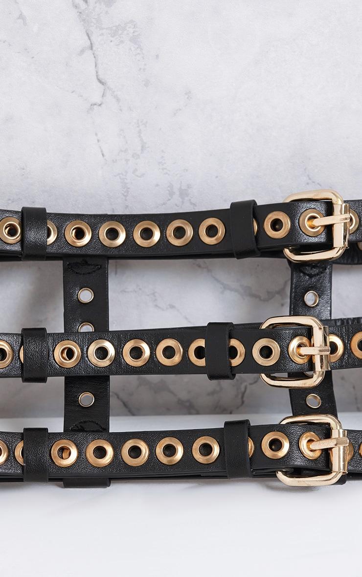 Ryo Black Eyelet Detail Belt 5