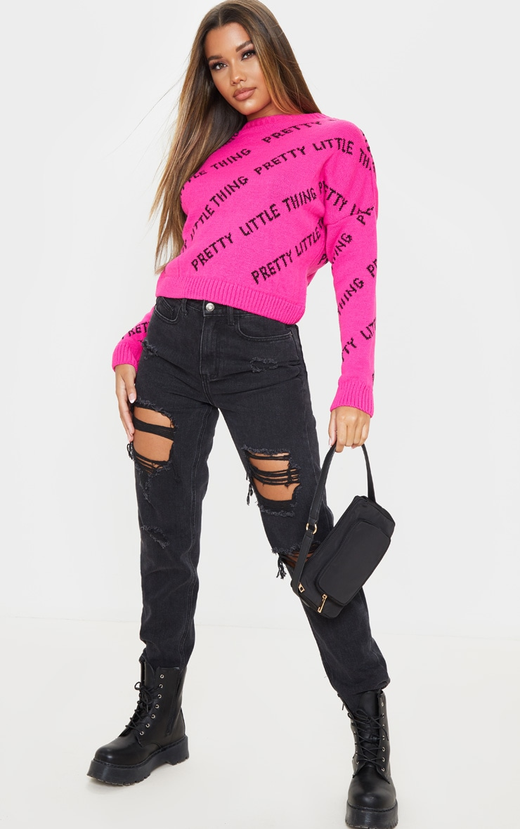 PRETTYLITTLETHING Pink Knitted Jumper 4