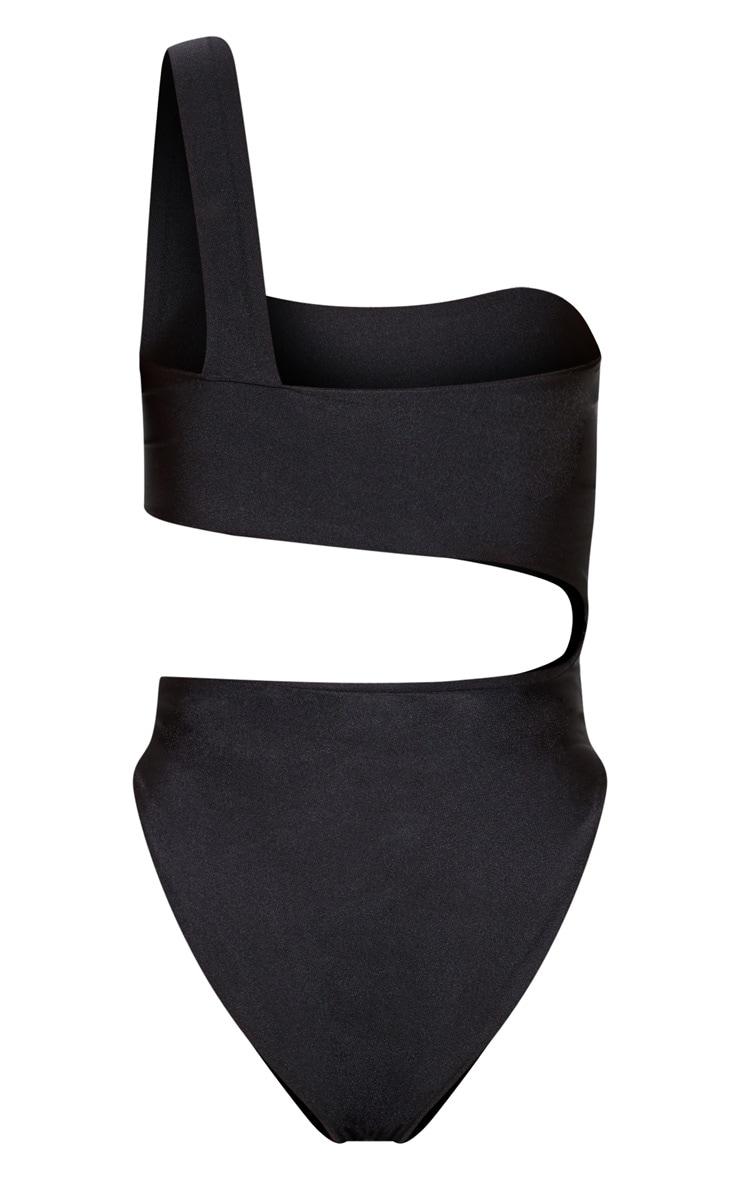 Black Cut Out Double Strap Swimsuit 4