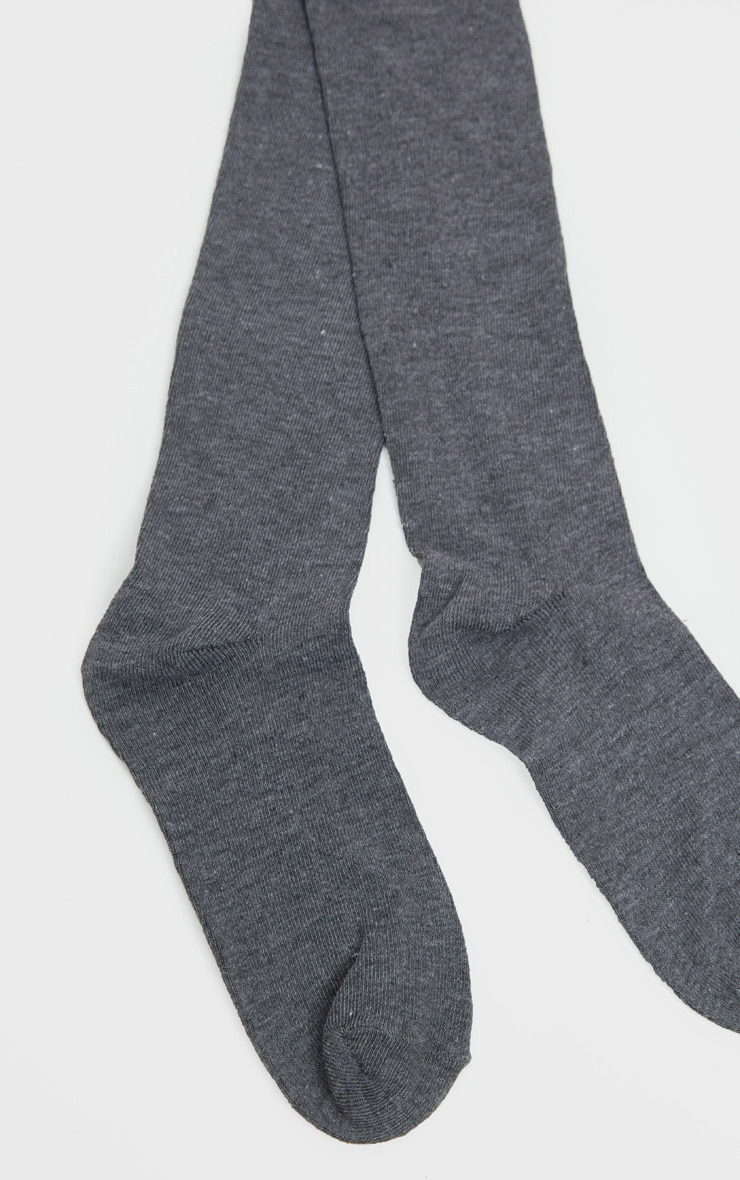 Grey Over The Knee Socks Three Pack 3