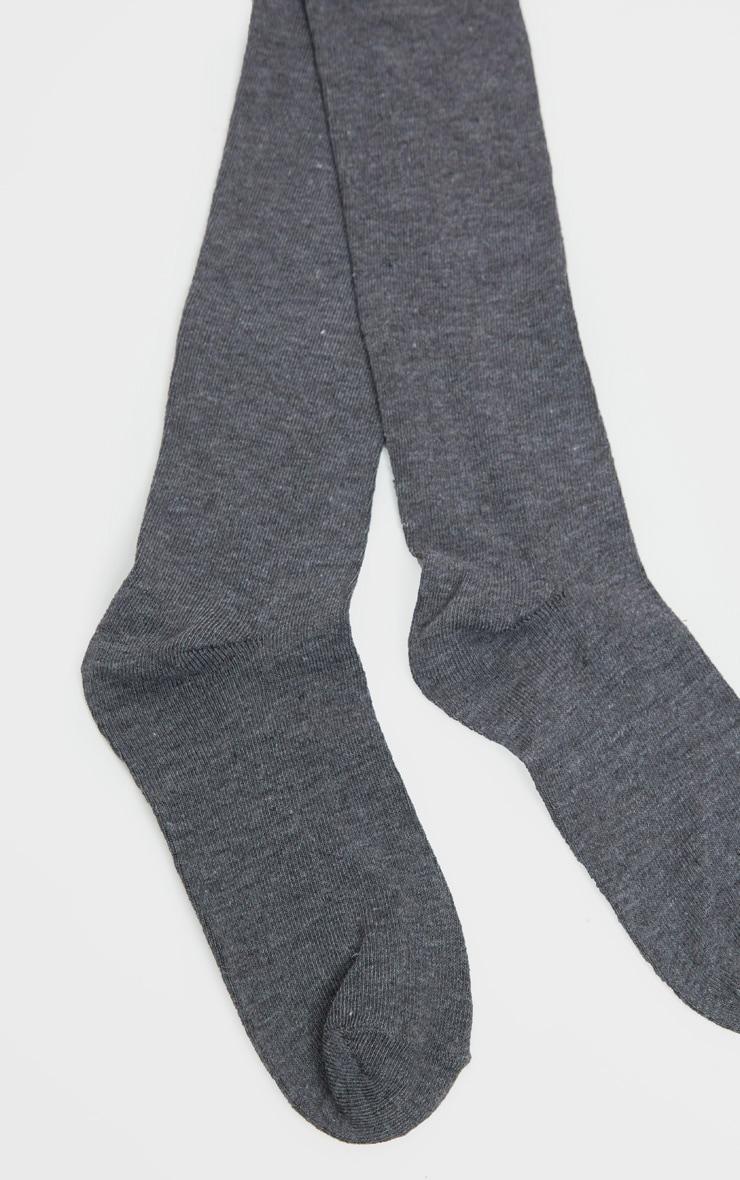 Grey Over The Knee Socks Three Pack 4