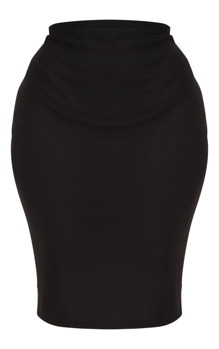 Plus Black Mesh Midi Skirt 3