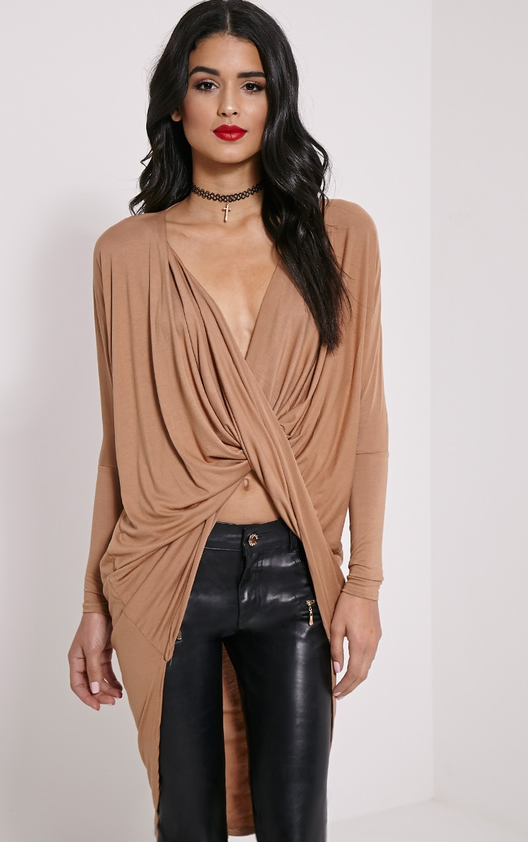 Chastity Camel Long Twist Front Top 1