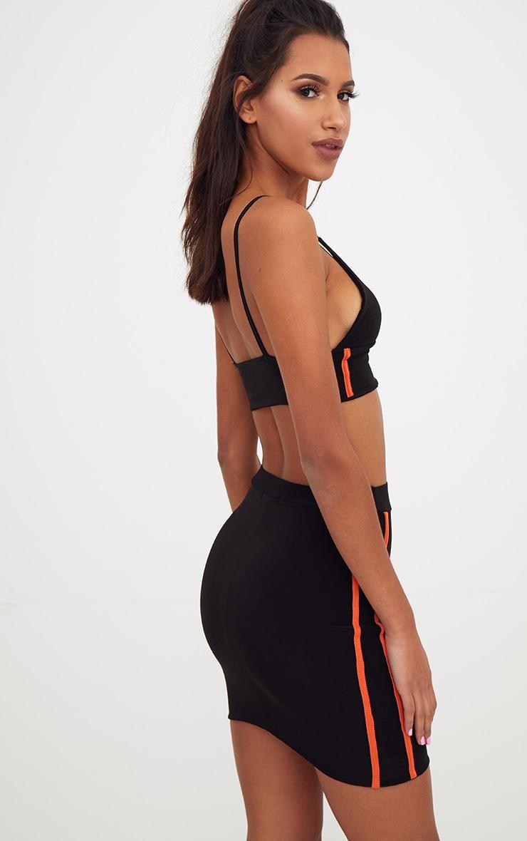 Black Slinky Sports Stripe Bralet 2