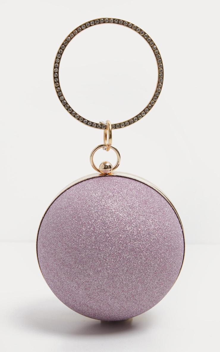 Pink Diamante Sphere Clutch 2