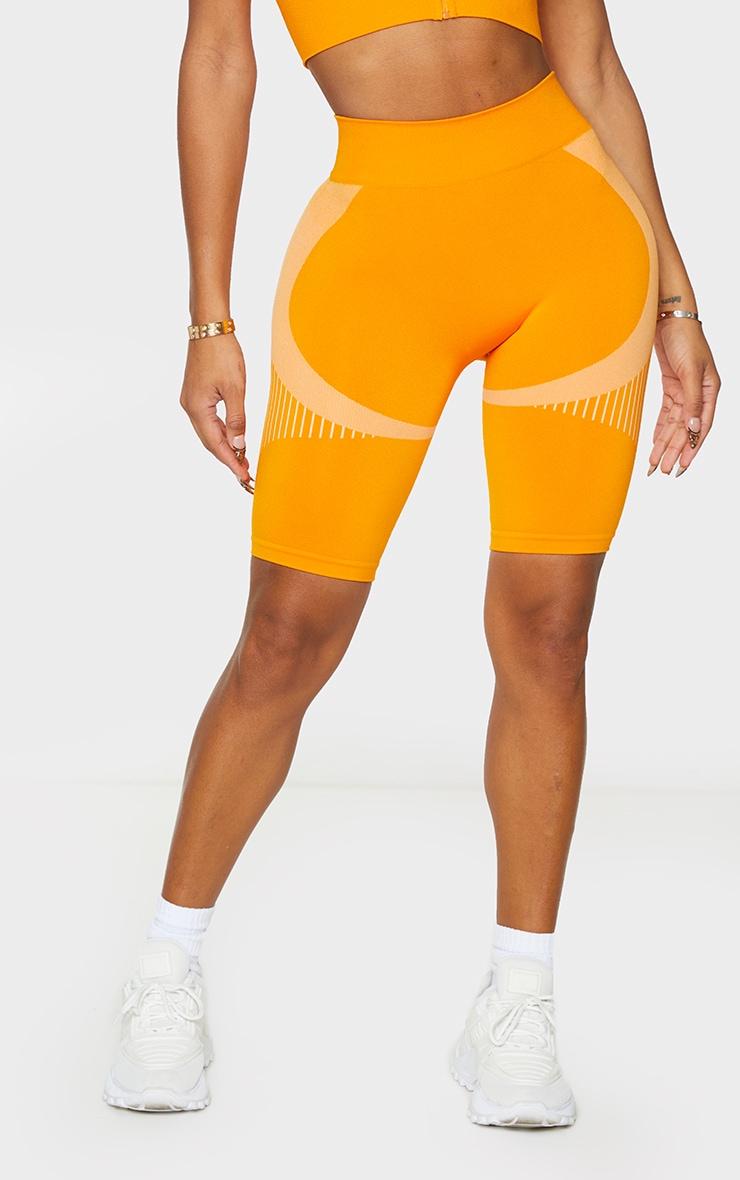 Shape Orange Seamless Bike Shorts 2
