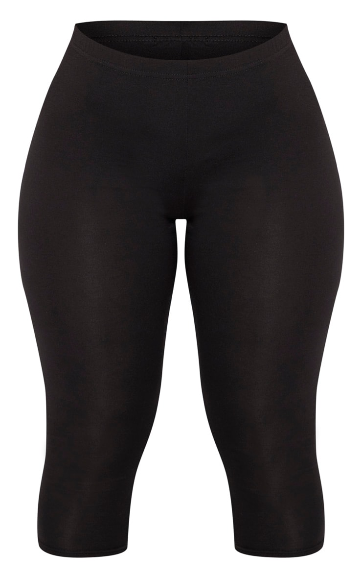 Shape Black Jersey Cropped Leggings 3