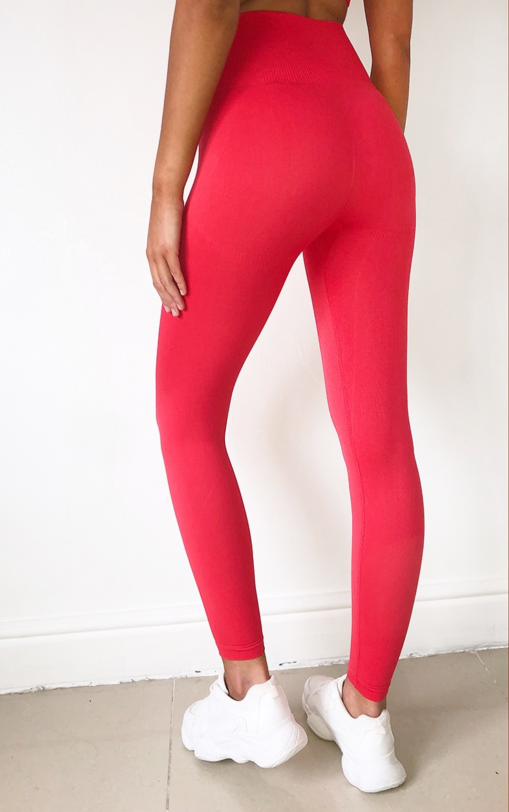 Buy Red Gym Leggins Up To 73 Off Free Shipping
