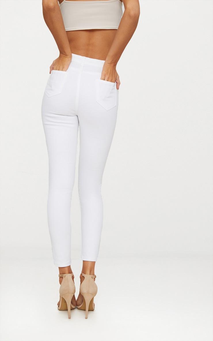 White Skinny 5 pocket Jean  4