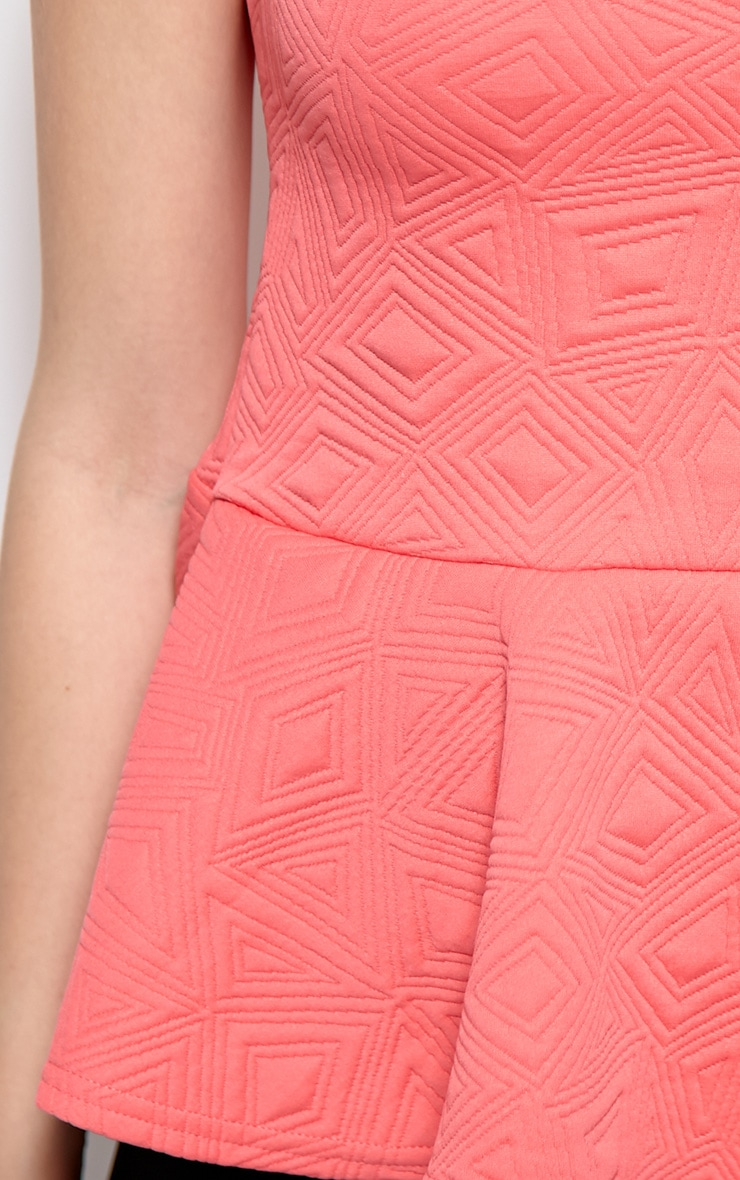 Kristen Pink Aztec Print Peplum Top 4