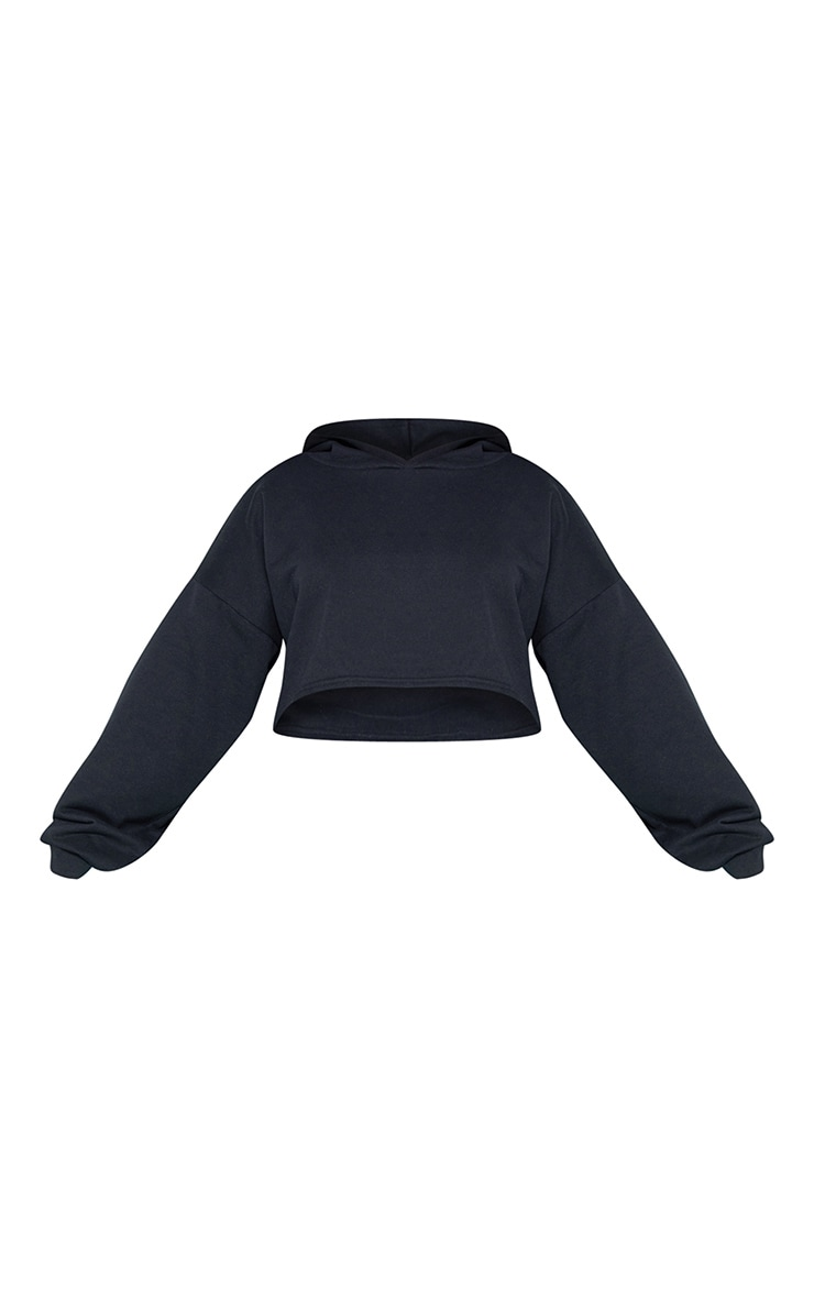 RECYCLED Plus Black Crop Hoodie 3