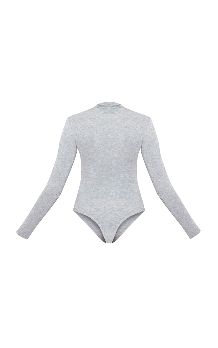 Go Girl High Neck Long Sleeve Bodysuit Grey 4