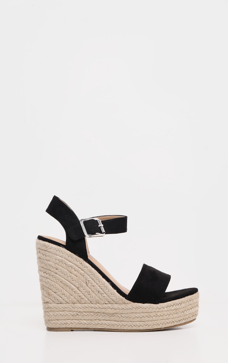 Black Wedge Sandal 5