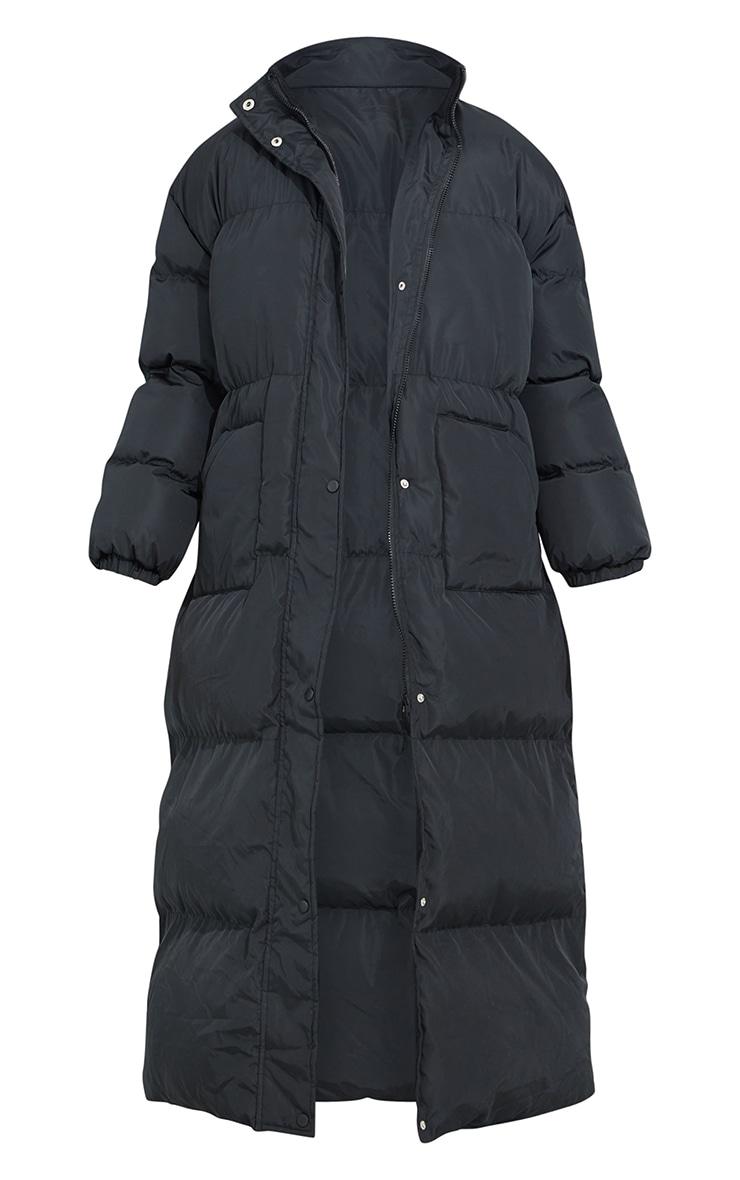 Tall Black Maxi Puffer Coat 5