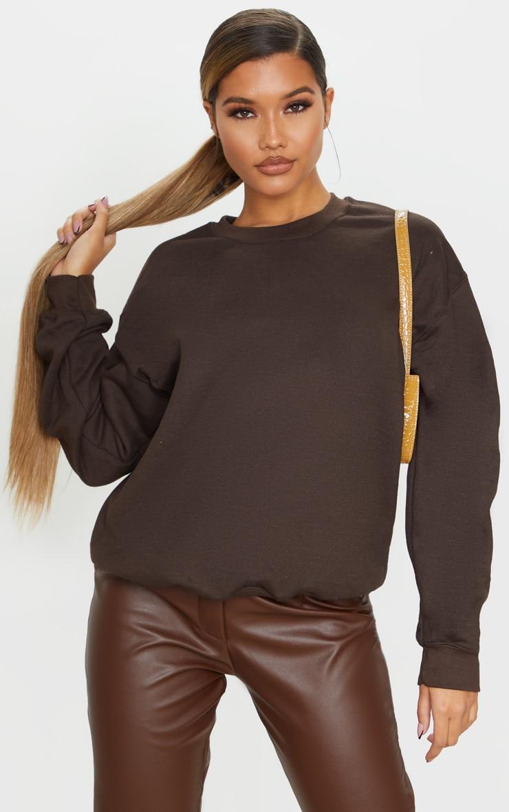 Chocolate Ultimate Oversized Sweatshirt 1