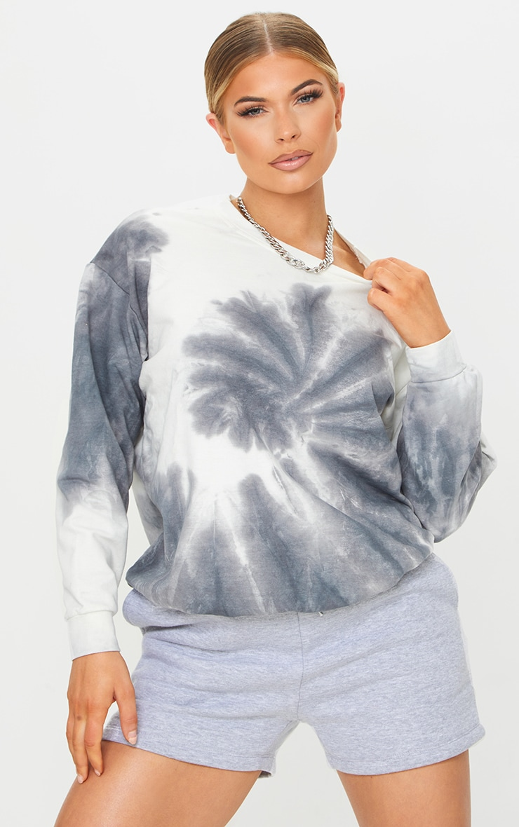 Black Tie Dye Oversized Sweatshirt 3