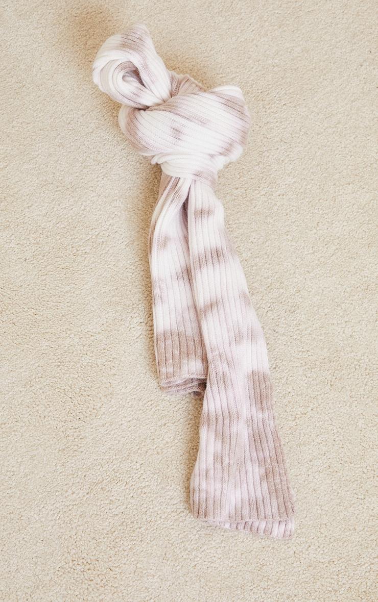 Stone Tie Dye Ribbed Scarf 2