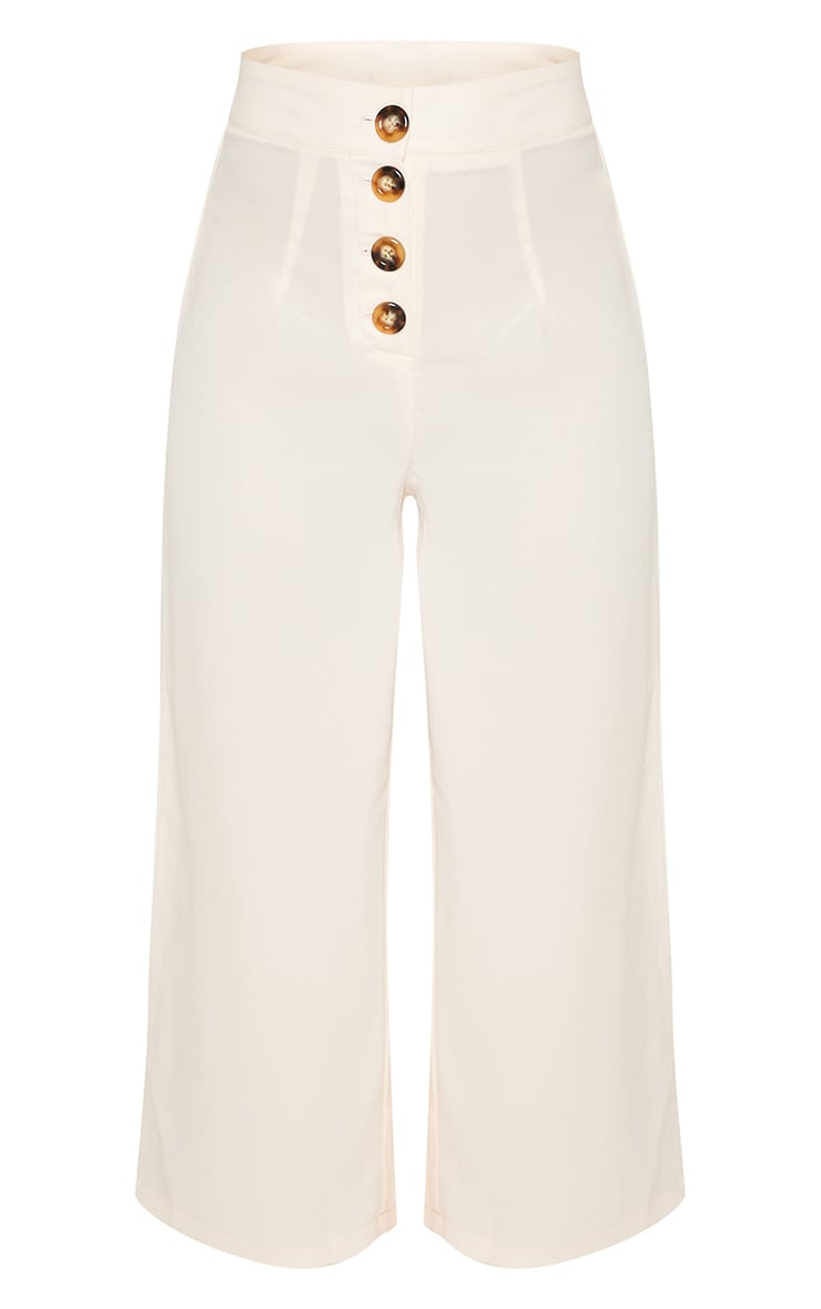 Cream Button Detail Culottes 3