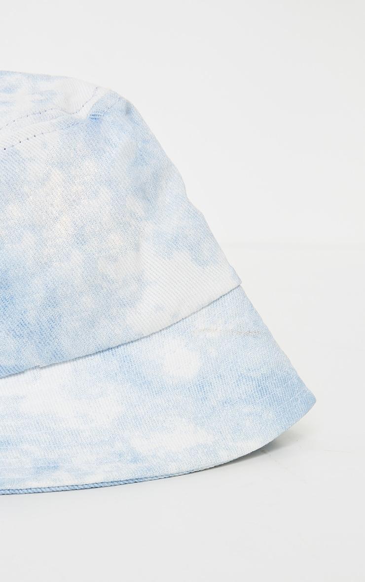 Light Blue Tie Dye Bucket Hat 2