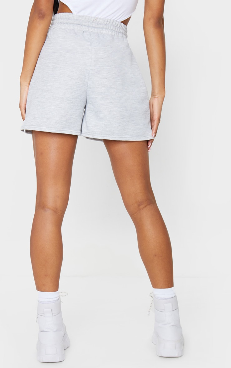 Grey Marl Loungewear Drawstring Shorts 3