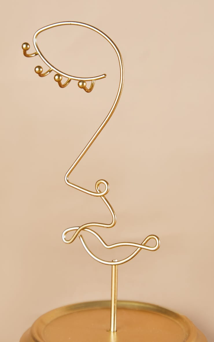 Porte-bijoux abstrait doré 4