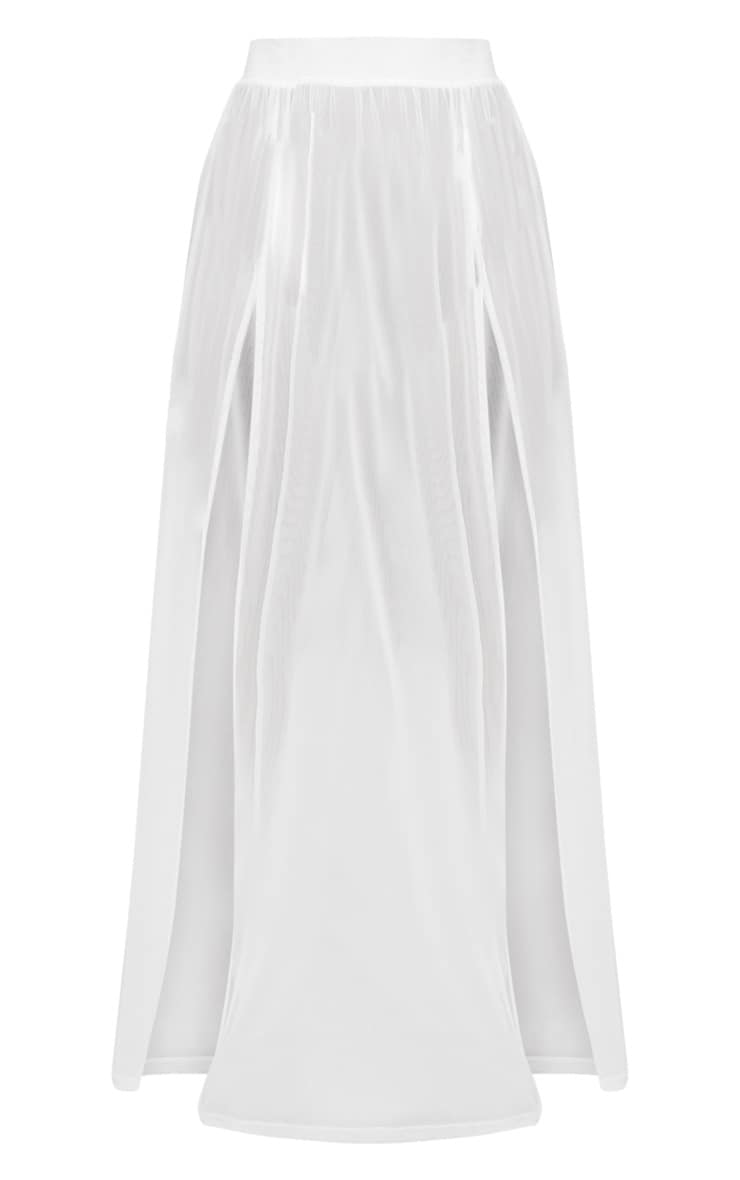 Jupe longue en mesh blanche 3