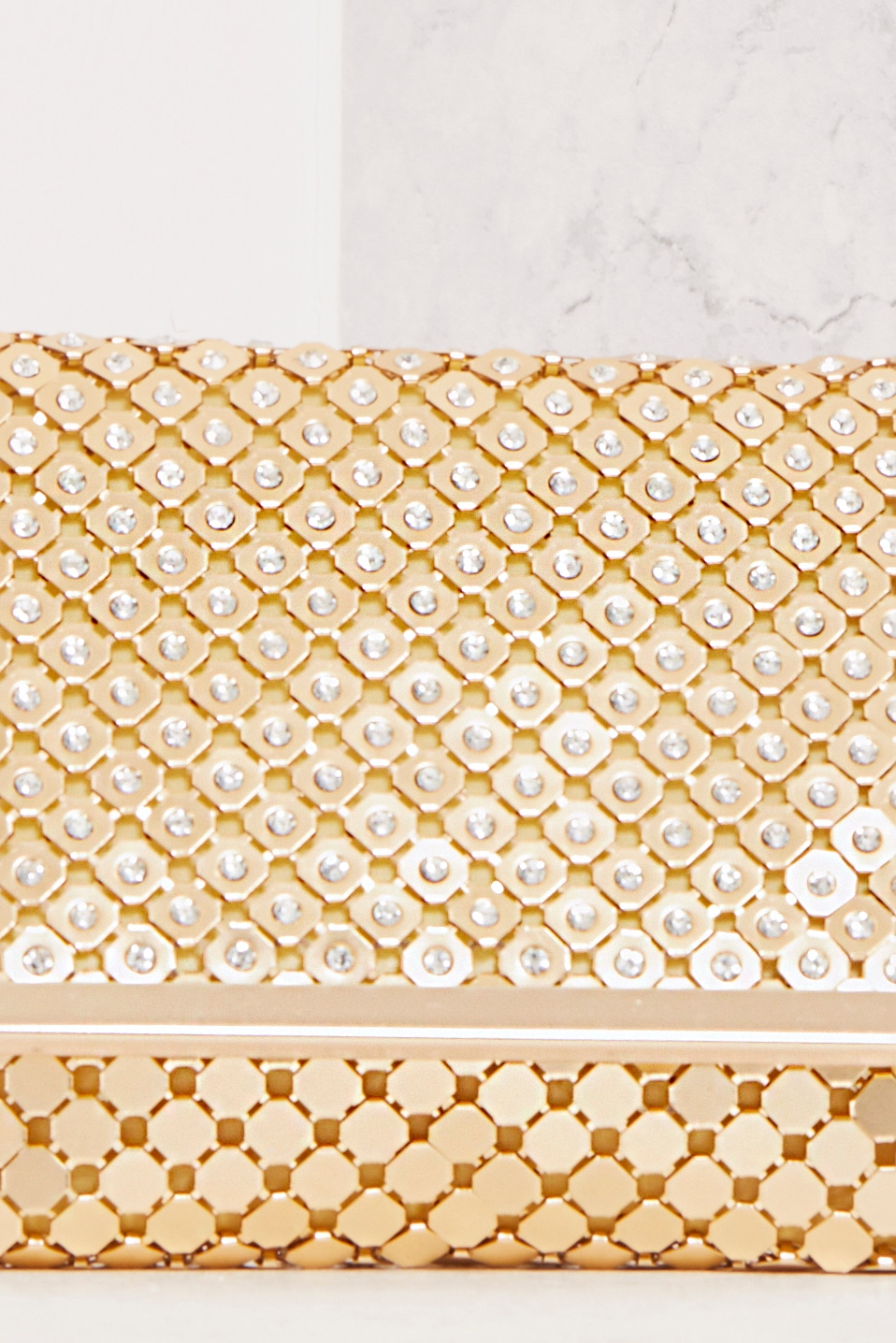 Jolee Gold Chainmail Clutch 5