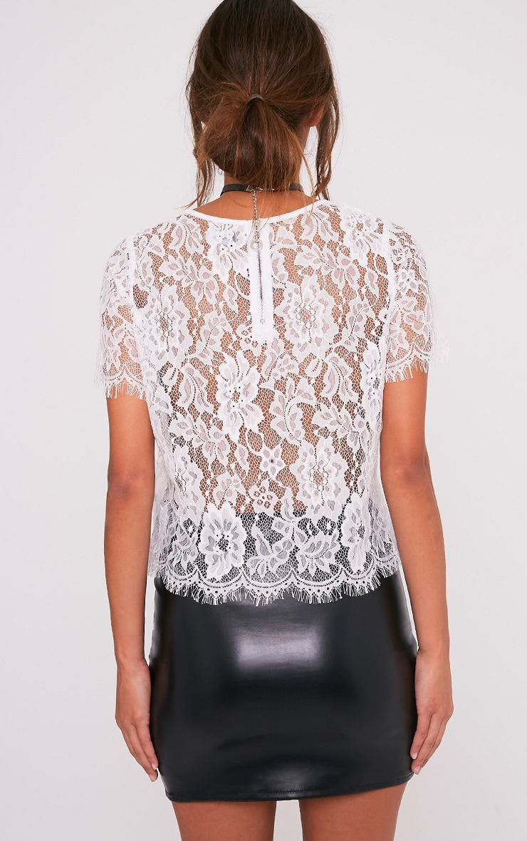 Avonna White Lace Top 2