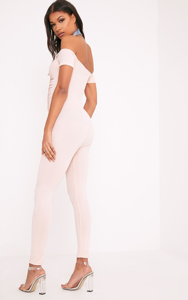 Jazlyn Nude Ruched Front Jumpsuit 3