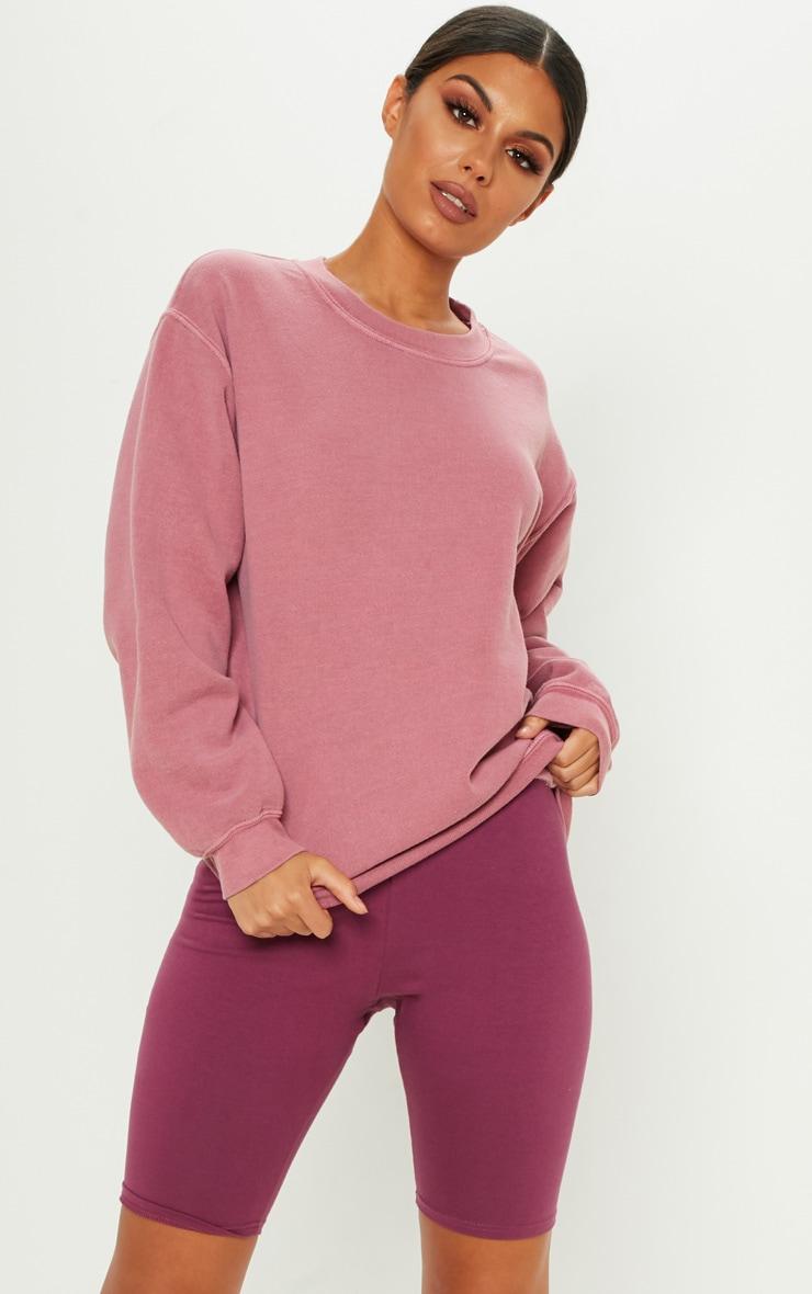 Short legging stretch violet