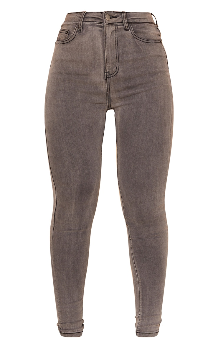 PRETTYLITTLETHING - Jean skinny gris à 5 poches 5