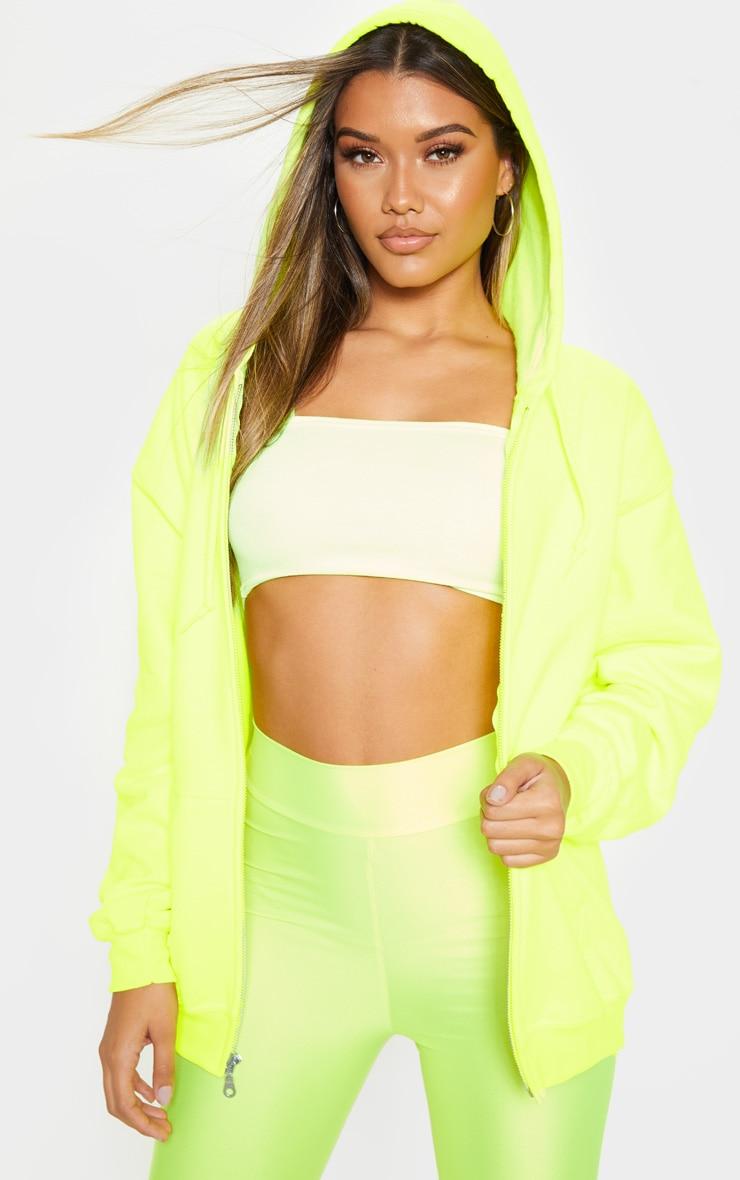 Lime Fleece Zip Hoodie