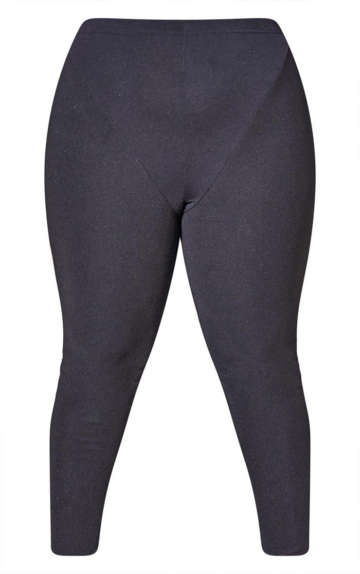 RENEW Plus Black Rib Panel Leggings 5