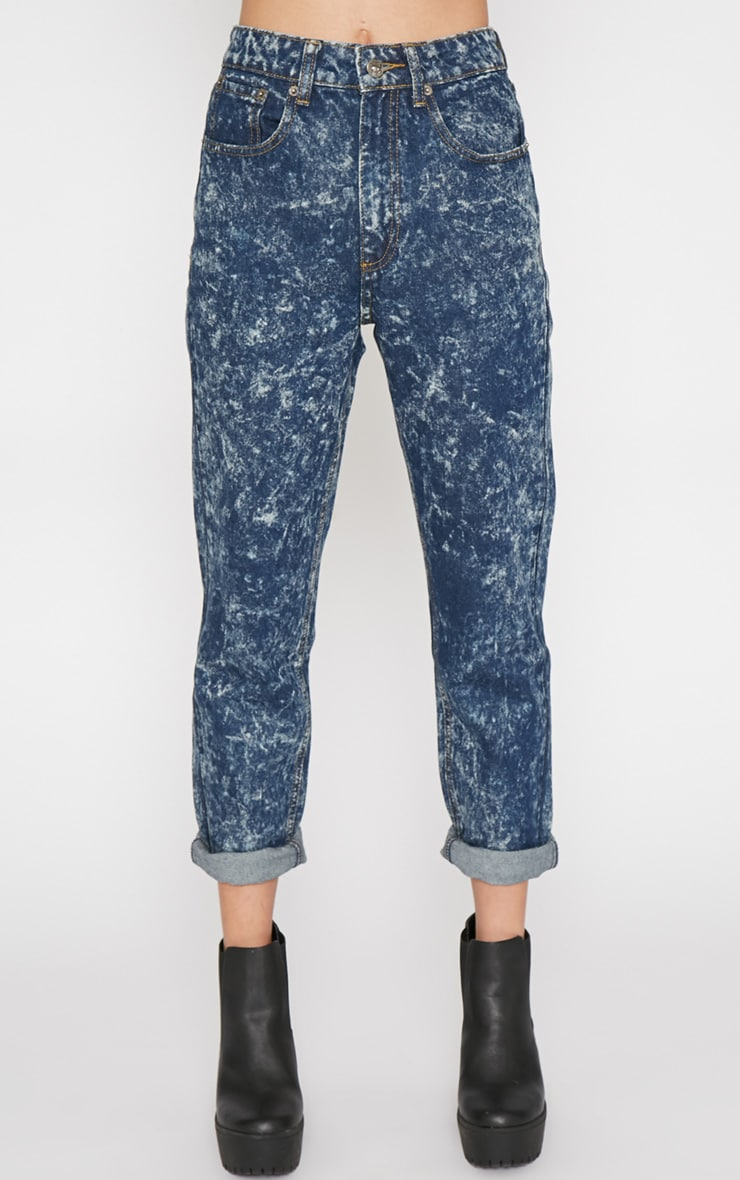 Saskia Blue Acid Wash Mom Jeans 4