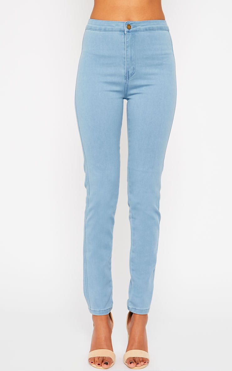 Jenna Light Blue Wash High Waist Jeans 2