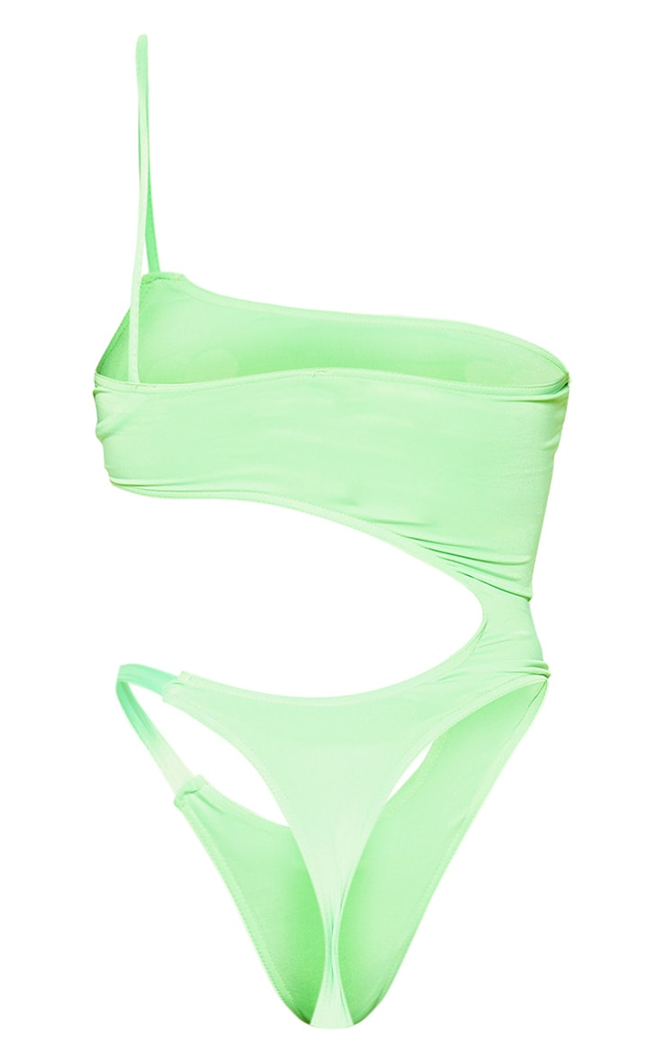 Lime Cut Out Mini Swimsuit 4