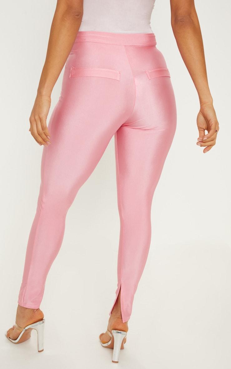 Pink Disco Split Hem Skinny Trouser 4