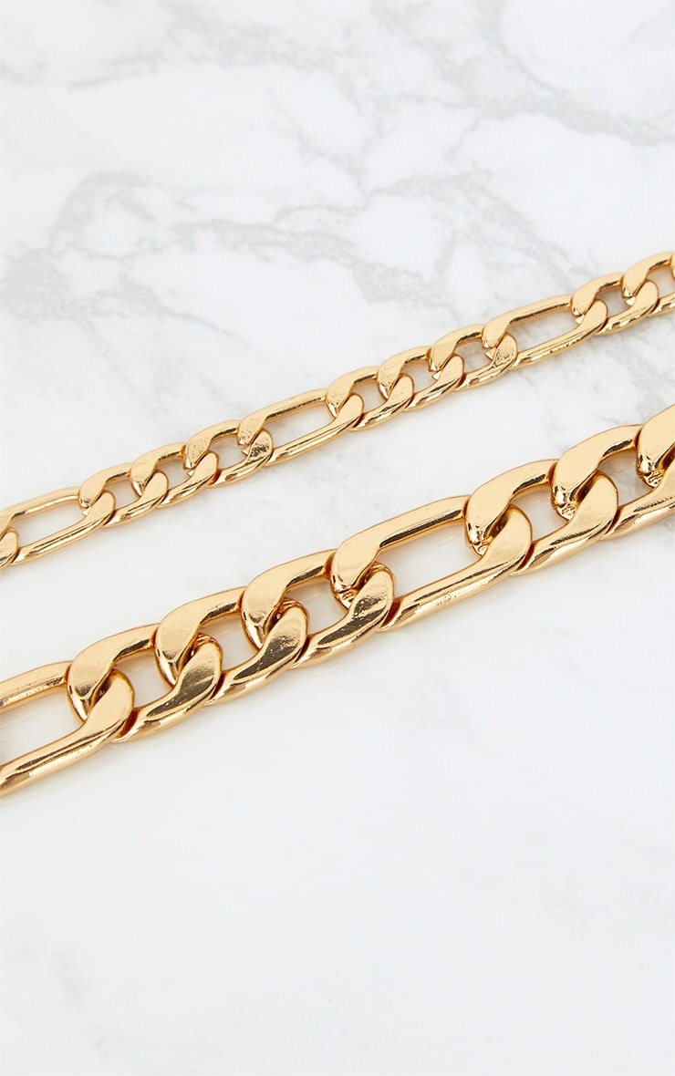 Gold Double Layer Chunky Link Choker 3