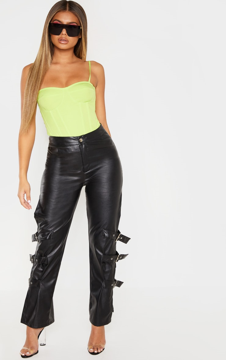 Lime Structured Corset Top 4