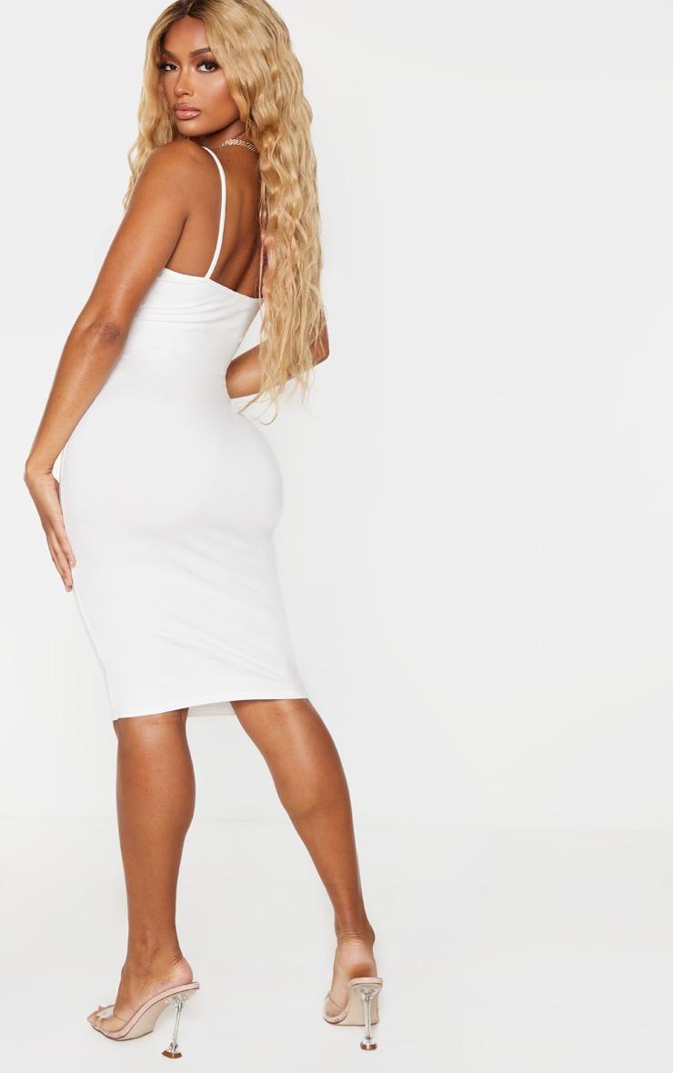 Shape Cream Cotton Strappy Midi Dress 2