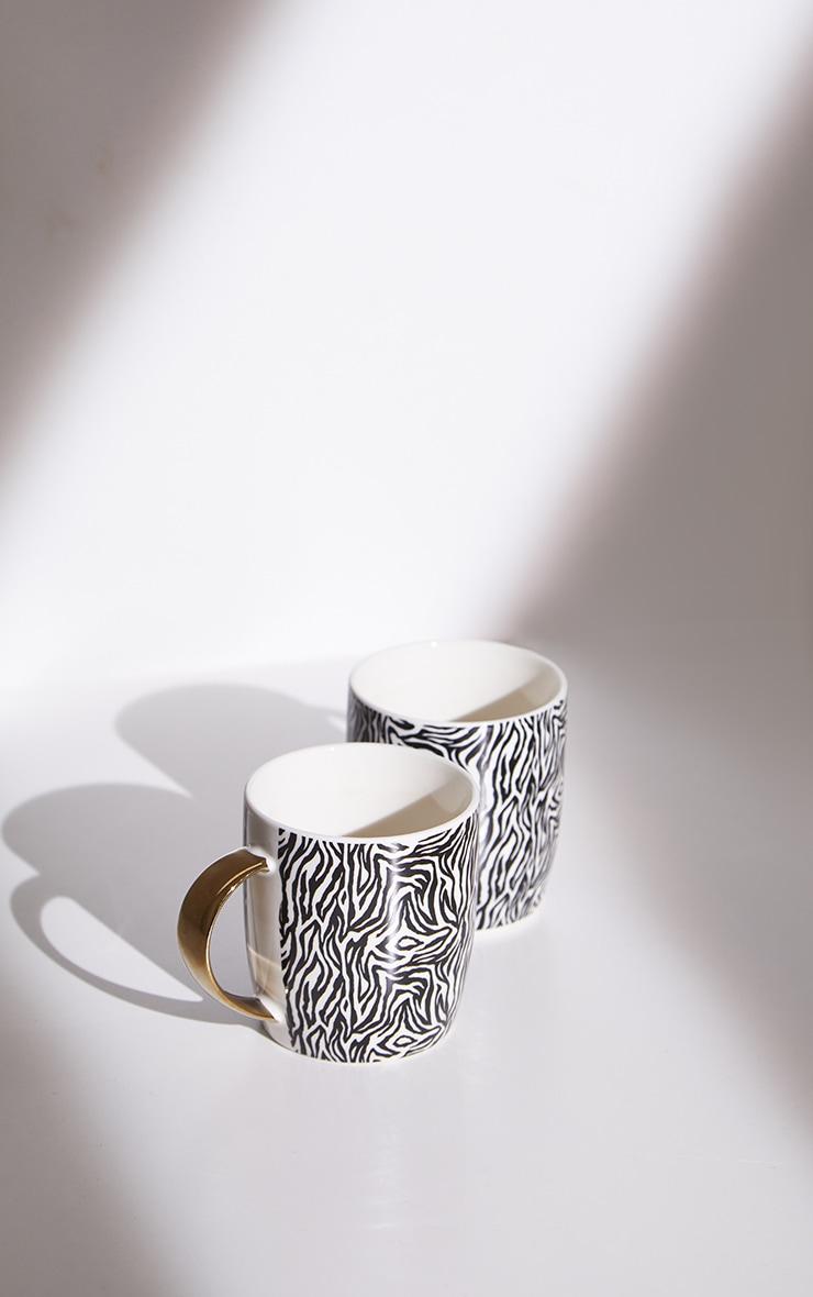 Giraffe Print 2 Pack Mugs 4