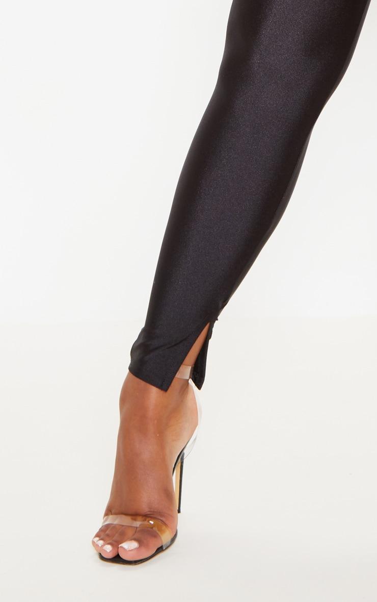 Black Disco Split Hem Skinny Pants 5