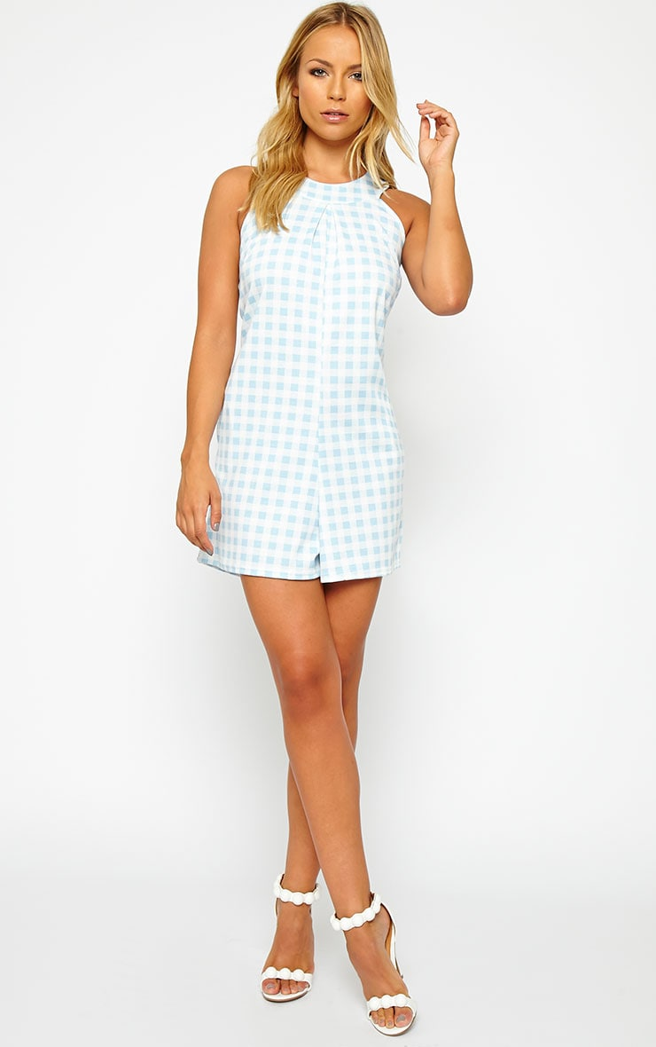 Tammie Baby Blue Gingham Playsuit 3