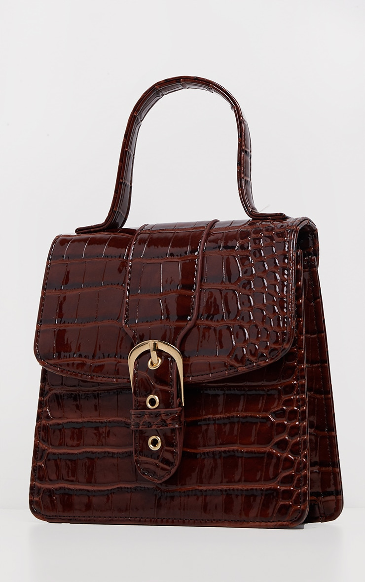 Choc Patent Croc Front Buckle Mini Bag 2