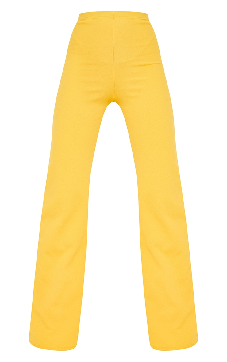 Orange Crepe High Waisted Wide Leg Trousers 5