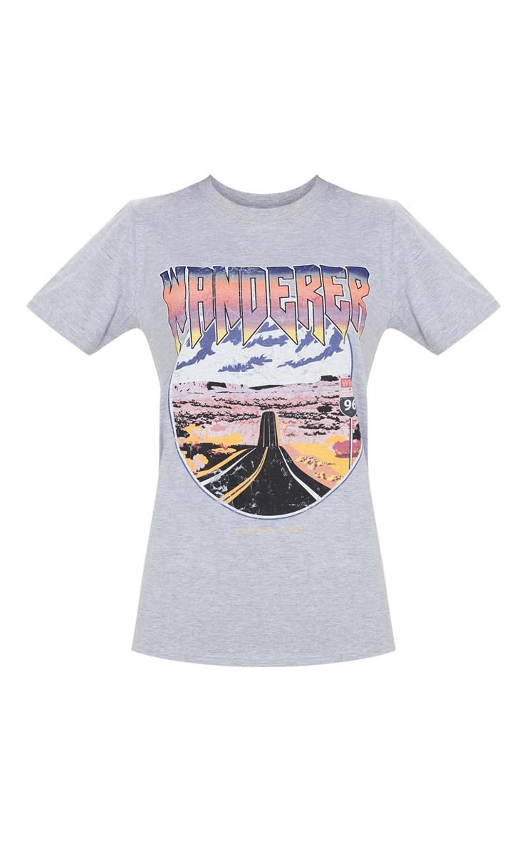 Grey Wanderer Oversized T Shirt 4