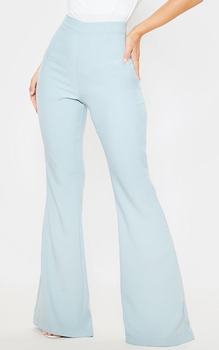 Mint Wide Legged Suit Trouser  2