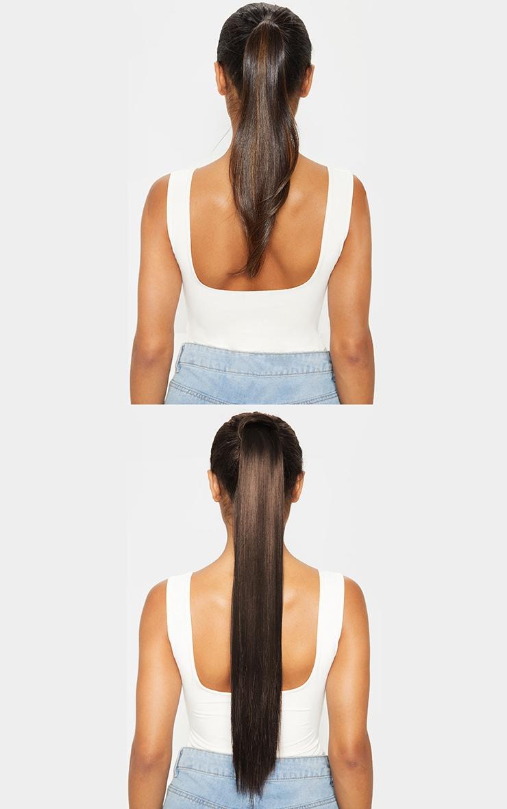 LullaBellz - Longues extensions lisses à clipser Straight Pony 66 cm - Dark Brown 3